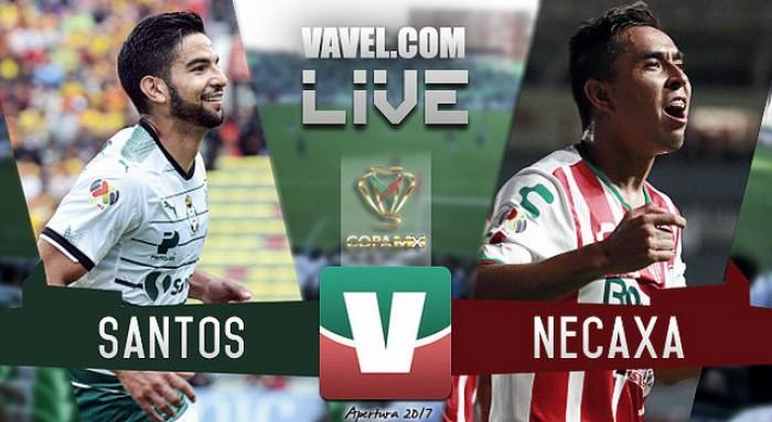 Resultado y goles del Santos 2-0 Necaxa de la Copa MX 2017