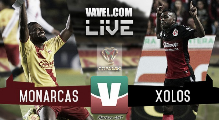 Resultado y goles del Monarcas 2-2 Xolos Copa MX 2017 Penales (4-2)