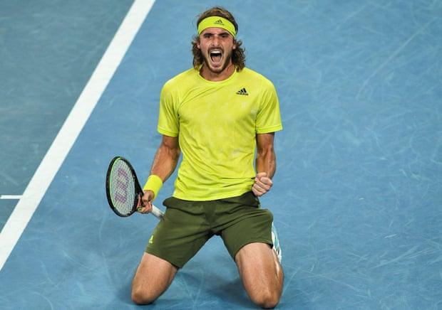 2021 Australian Open: Stefanos Tsitsipas outlasts Thanasi Kokkinakis in five-set classic