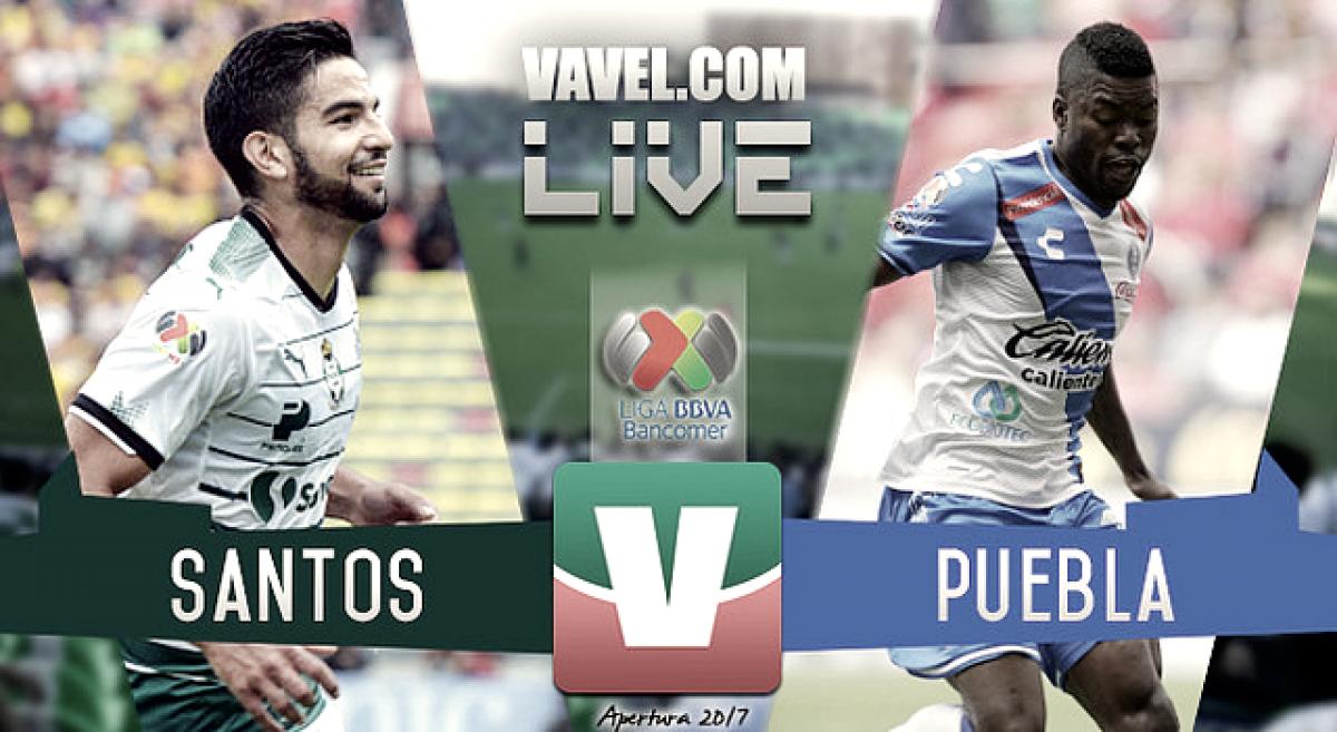 Resultado y gol del Puebla (0-1) Santos