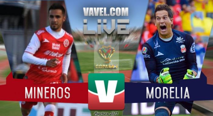 Resultado y goles, Mineros de Zacatecas vs Monarcas en Copa MX 2017 (1-2)