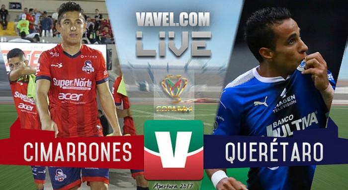 Resultado y goles del Cimarrones (2-2) Querétaro en Copa MX