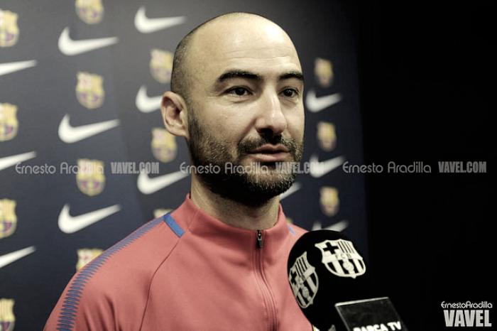 """Fran Sánchez: """"No pensamos en pasar la eliminatoria sino en salir y ganar el partido"""""""