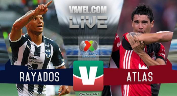 Resultado y goles del Monterrey 2-1 Atlas en Liga MX 2017
