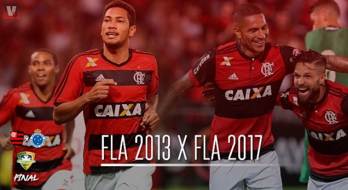 Nomes de peso, artilheiros e decisão: diferenças e semelhanças entre Flamengo de 2013 e 2017