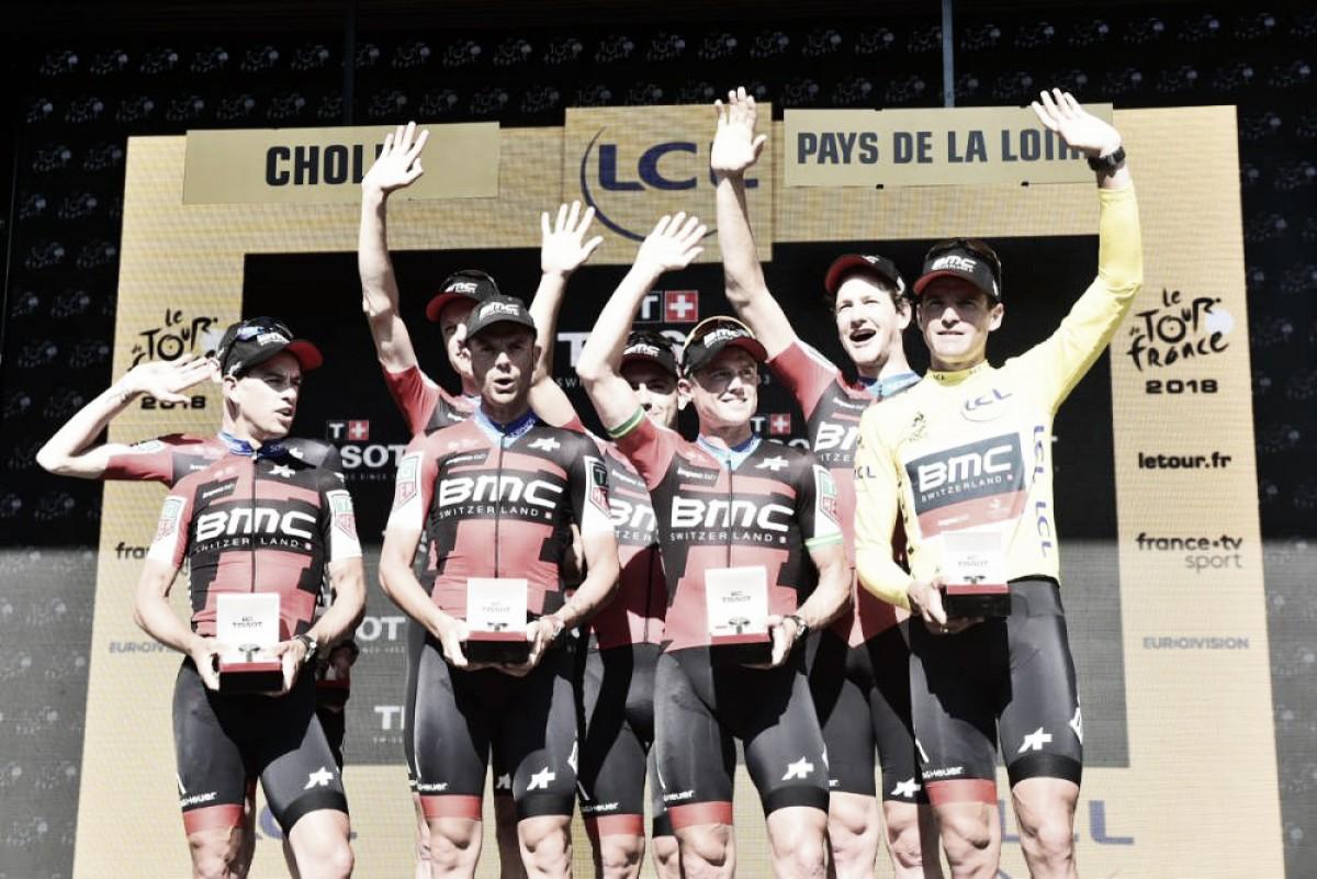 Tour de Francia 2018, etapa 3: el BMC ganó la contrarreloj por equipos