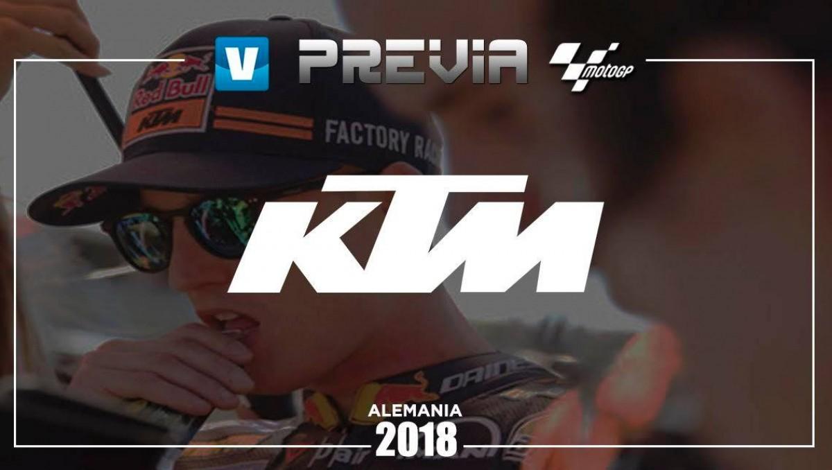 Previa KTM GP de Alemania: buscando mejorar