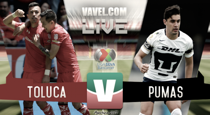 Resultado Toluca 2-1 Pumas en Liga MX 2017