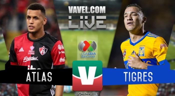 Resultado y goles del Atlas 1-1 Tigres Liga MX 2017
