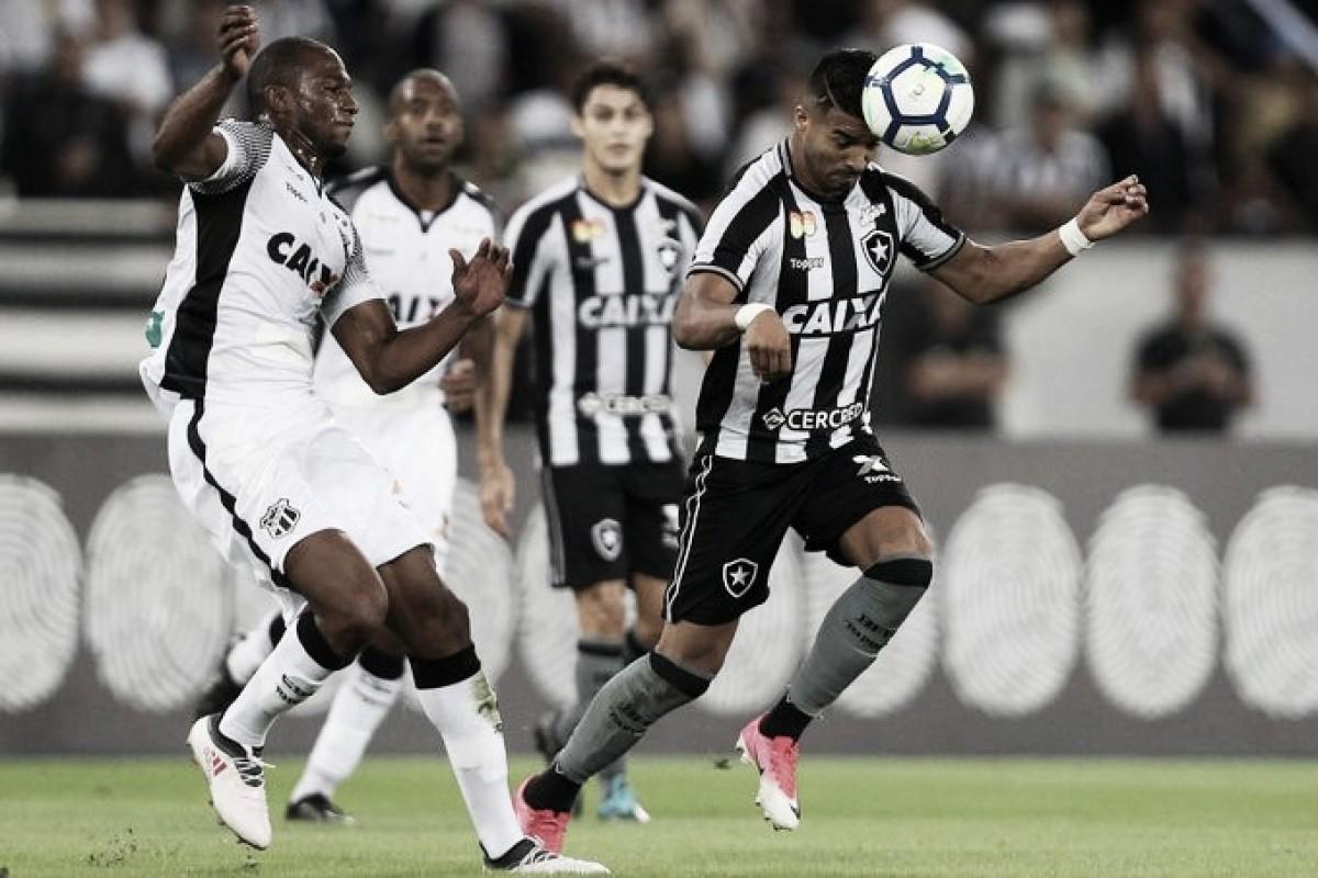 Em jogo com poucas emoções, Botafogo empata com lanterna Ceará