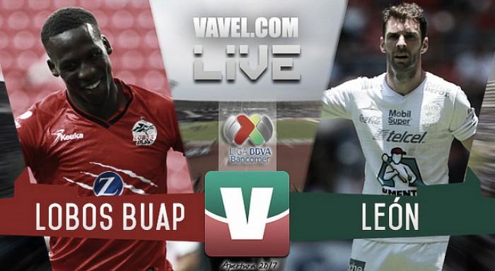 Resultado y goles del Lobos BUAP 0-3 León en Liga MX 2017