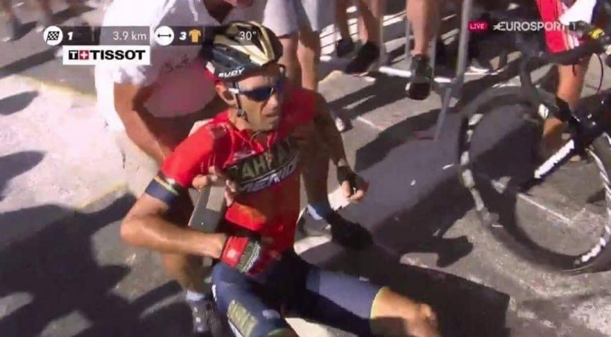 Tour de France 2018 - Incredibile Nibali, costretto al ritiro... per colpa di un tifoso
