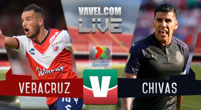 Resultado y goles del Veracruz 2-3 Chivas de la Liga MX 2017