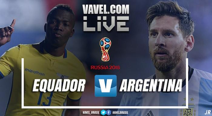 Resultado Equador x Argentina pelas Eliminatórias para Copa do Mundo 2018 (1-3)