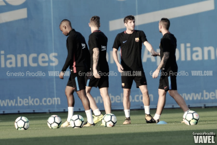 Sergi Roberto y André Gomes, novedades en la sesión previa a Mestalla