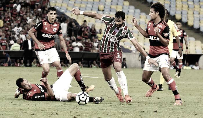Fluminense não aproveita gol contra de Pará, defesa falha e Flamengo arranca empate