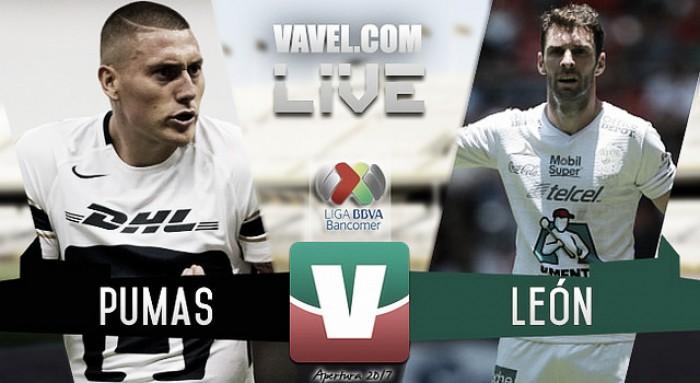 Resultado y goles del Pumas 2-0 León de la Liga MX 2017 (2-0)