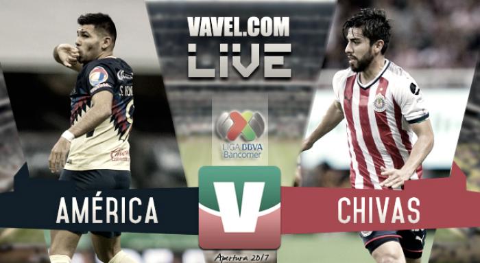Resultado y goles del América 2-1 Chivas de la Liga MX 2017