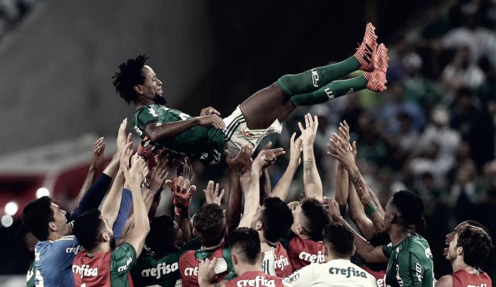 """Em despedida, Zé Roberto afirma: """"Quando cheguei o Palmeiras era grande, agora é gigante"""""""