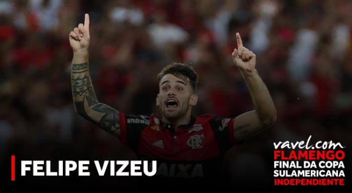 Revelado na base, Felipe Vizeu é homem-gol essencial para Flamengo na Sul-Americana