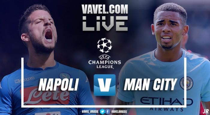 Resultado Napoli x Manchester City pela Champions League 2017/18 (2-4)