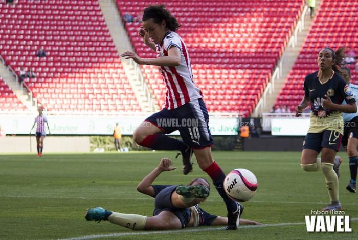 Fotos e imagénes del Chivas vs América Semifinal Ida Liga Femenil MX