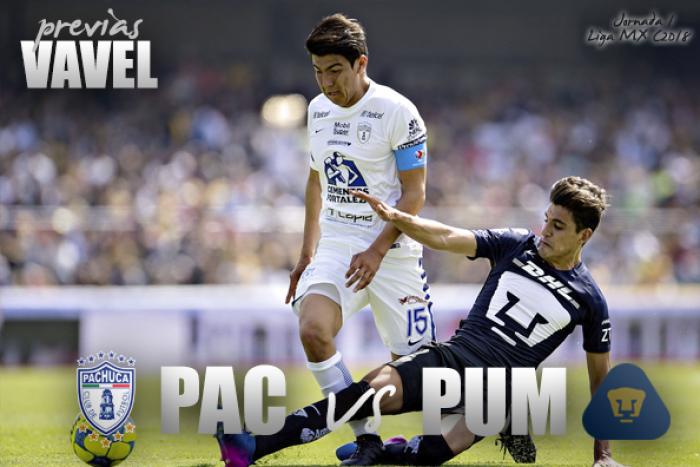 Previa Pachuca - Pumas: por la primera victoria