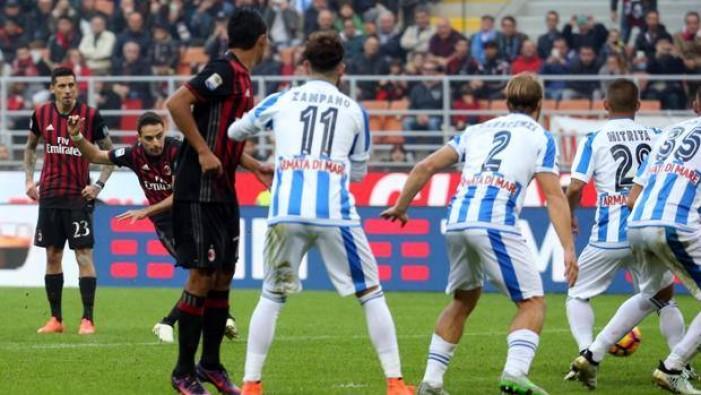 Serie A, Milan brutto e vincente: Bonaventura stende il Pescara