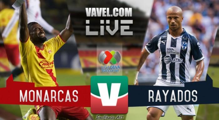 Resultado y goles del Monterrey - Monarcas en la Liga MX (4-0)