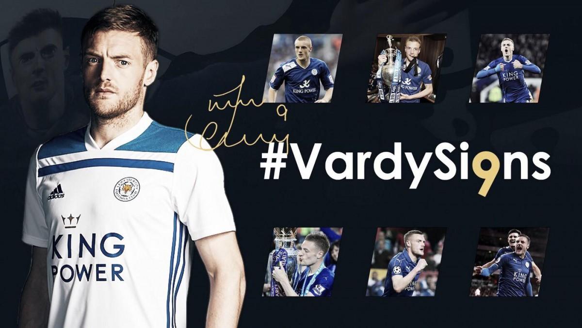 Jamie Vardy renova contrato com Leicester City por mais quatro temporadas