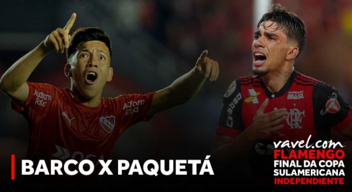 Crias de Flamengo e Independiente, Paquetá e Barco fazem duelo de revelações