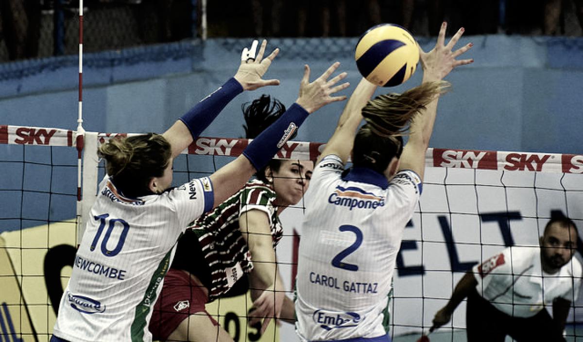 Em vantagem, Minas recebe Fluminense para segunda partida das quartas da Superliga Feminina