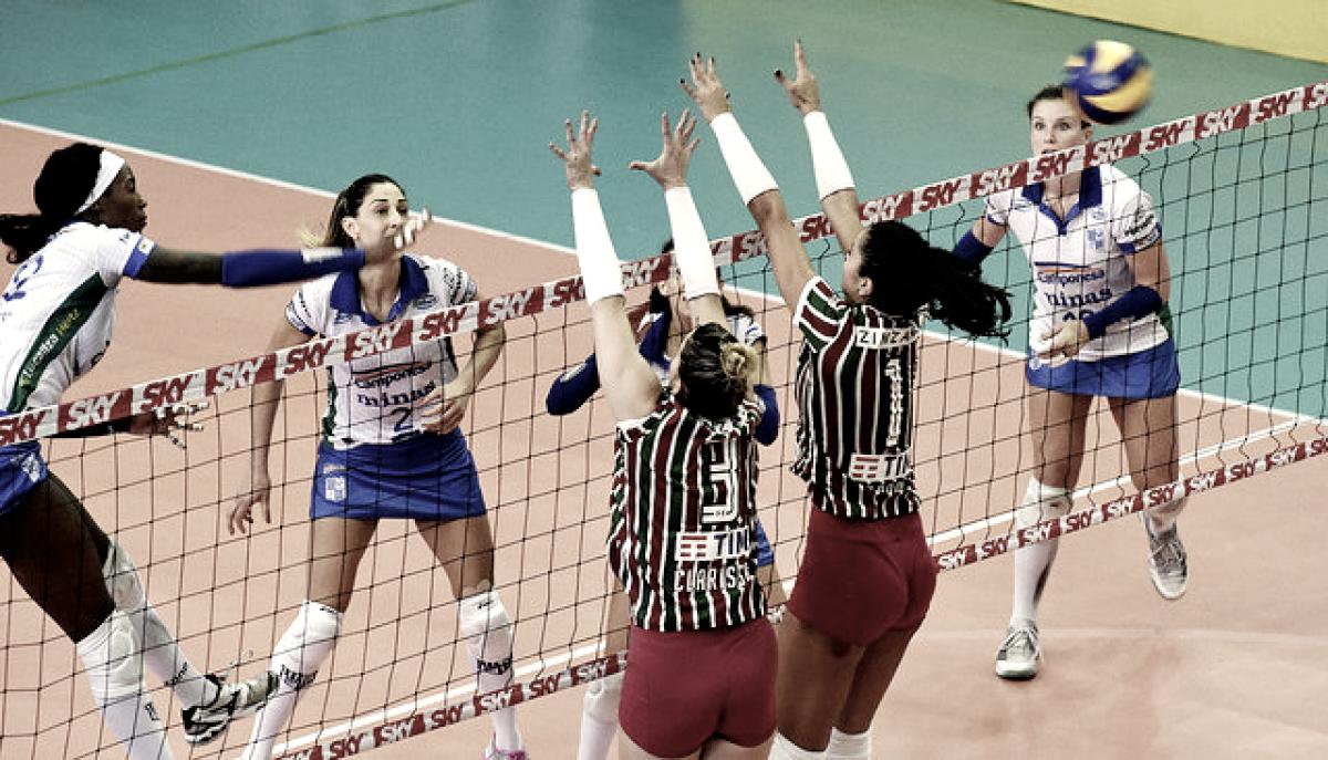 Minas vence Fluminense e sai na frente por vaga na semifinal da Superliga Feminina