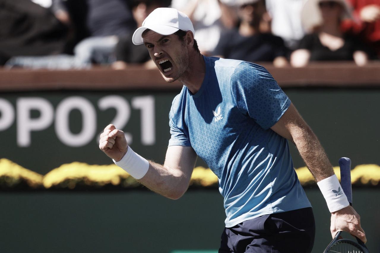 Murray vira contra Alcaraz e vai enfrentar Zverev na terceira rodada de Indian Wells