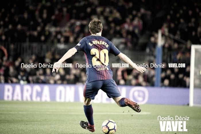 """Sergi Roberto: """"El equipo ha salido muy bien y hemos tenido muchas oportunidades"""""""
