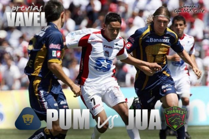 Previa Pumas - Juárez: por los primeros puntos