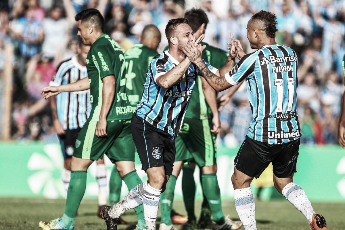 Fora de casa, Grêmio goleia Avenida e fica perto da final do Gauchão