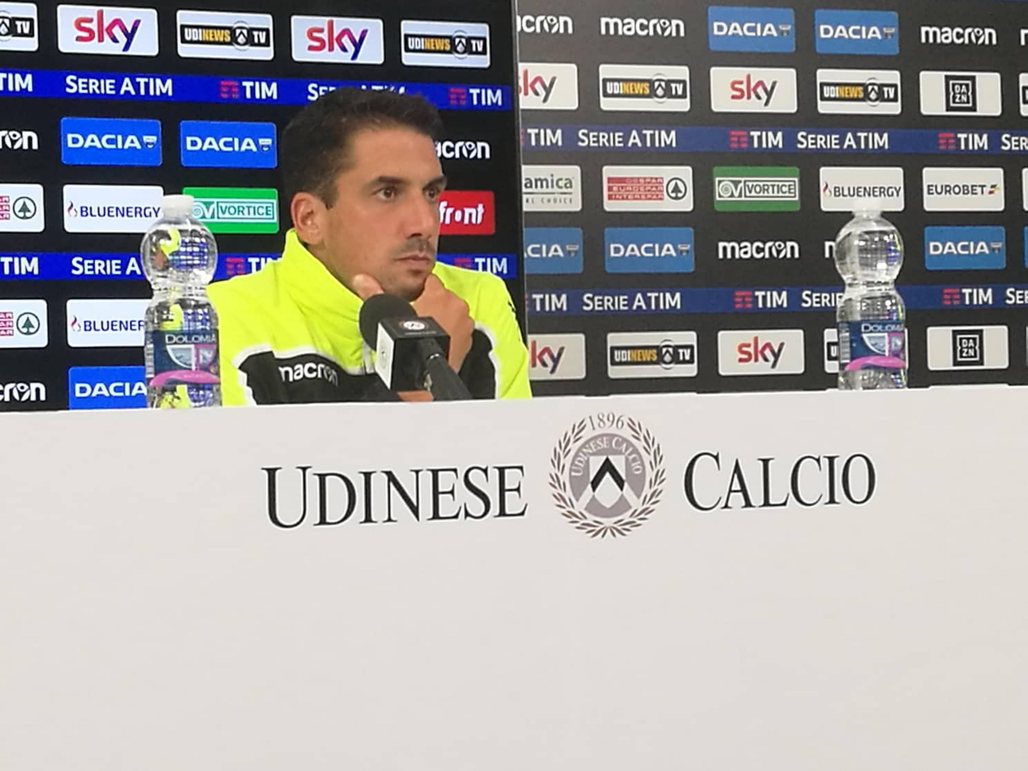 """Udinese - Velazquez: """"Torino molto pericoloso, Barak può fare 30', fiducia in Lasagna"""""""