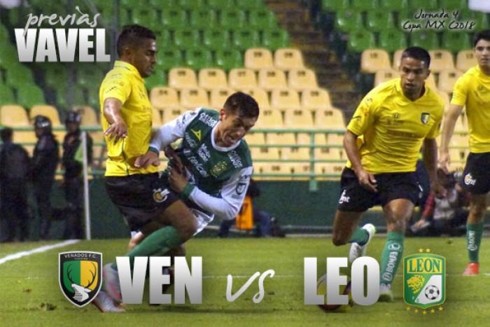 Resultado y goles del partido Venados 2-2 León en Copa MX 2018