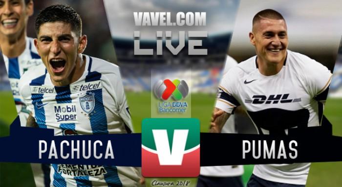 Resultado y goles del Pachuca 2-3 Pumas en Liga MX 2018 (2-3)