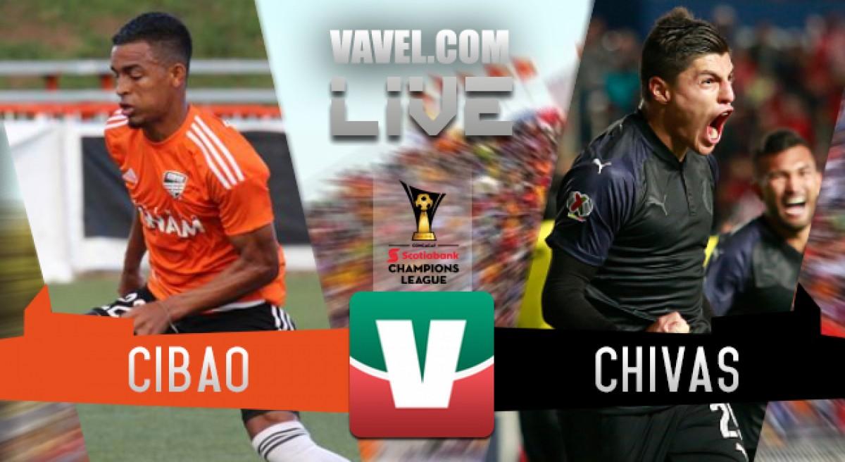 Resultado y goles Cibao FC vs Chivas en Concachampions 2018 (0-2)