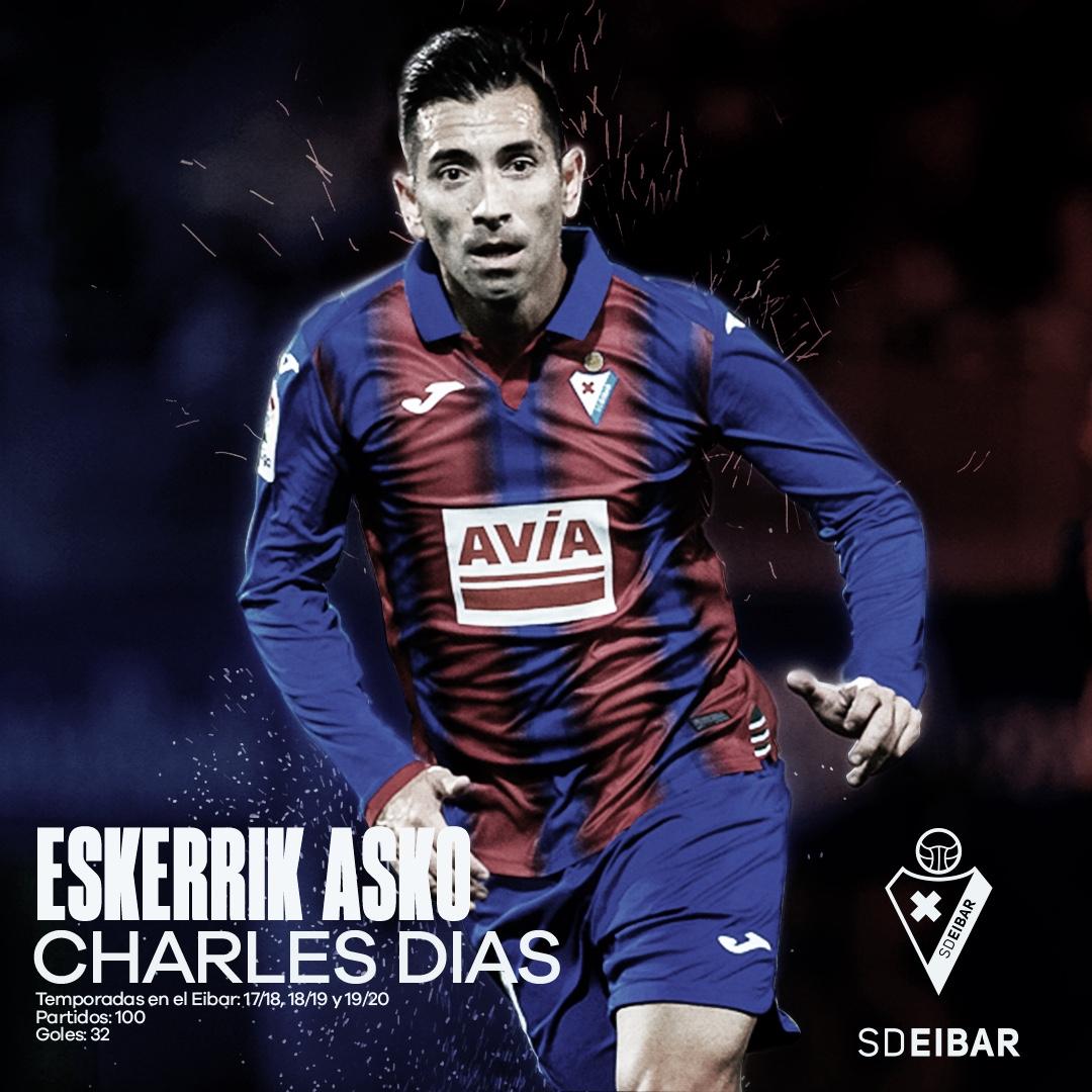 La SD Eibar oficializa el adiós de Charles Dias