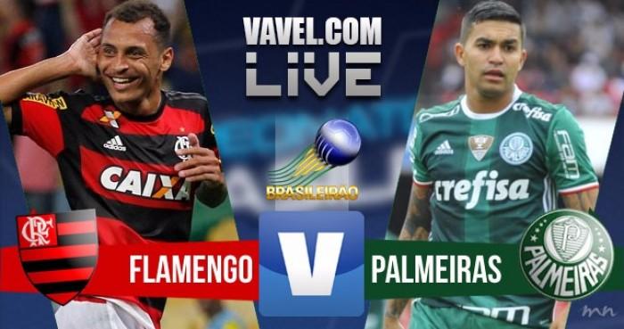 Resultado do jogo Flamengo x Palmeiras no Campeonato Brasileiro 2016 (1-2)