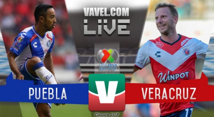 Resultado y goles del Puebla 2-0 Veracruz en Liga MX 2018
