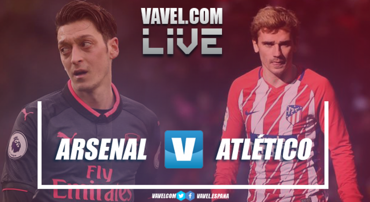 Resumen Arsenal vs Atlético de Madrid en  Europa League 2018 (1-1)