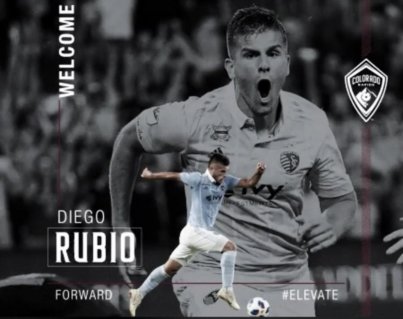 Diego Rubio firma por los Rapids