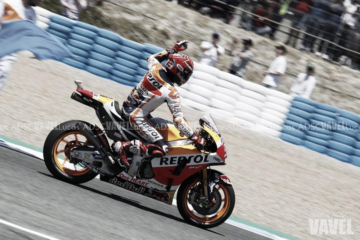 MotoGP - Gran Premio di Francia: Marquez fa tris e va in fuga, Petrucci e Rossi sul podio