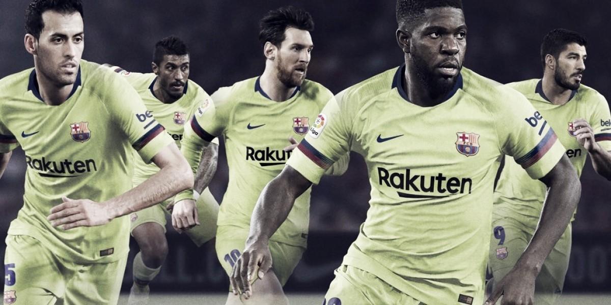 Barcelona divulga segundo uniforme para temporada 2018/19
