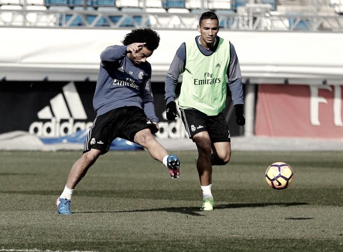 Penúltimo entreno antes de visitar El Sadar del Real Madrid