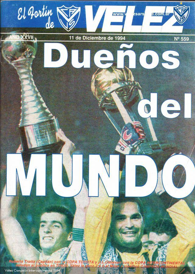 """<p class=""""MsoNormal"""">El equipo <b>italiano</b> llegaba como campeón de la copa de Europa (actual Champions league), ganándole por 4 goles a 0 al <b>Barcelona</b> del """"dream team"""" de <b>Cruyff</b> en la final en el estadio olímpico de <b>Atenas</b>, cortando así el ciclo ganador de los catalanes. El fortín se enfrentó en la final de la Libertadores al <b>Sao Paulo de Brasil</b>, bicampeones de América y del mundo, en una copa en la que no fue el favorito para nada, llegar hasta ahí ya era una hazaña, pero <b>Vélez </b>quería más. En la primer final gano 1 a 0 con gol del Turco<b> Asad</b> y viajaba a <b>Brasil</b> con ventaja. En la vuelta <b>Vélez </b>sería el campeón gracias a su figura Chilavert por penales después de perder 1 a 0 en el <b>Morumbi.</b><br></p>  <p class=""""MsoNormal"""">En <b>Tokio</b>, después &nbsp;un pelotazo de <b>Chilavert </b>para <b>Basualdo</b> quien para la pelota por la banda derecha, manda el centro al Turu Flores que esperaba a alturas del punto del penal, allí <b>Costacurta </b>lo toma desmedidamente y cobran penal para <b>Vélez</b>. &nbsp;<b>Roberto Trotta</b>, con un remate fuerte al medio como dicen los manuales de los partidos complicados y con esa pisca de fortuna para que la pelota pegara en las piernas de Rossi, quien se tiraba a su izquierda, y entrara igual, así &nbsp;a los 5´ del segundo tiempo decía que el fortín le ganaba al <b>Milán</b> por 1 a 0. </p>  <p class=""""MsoNormal""""><b>Chilavert</b> aparecería nuevamente más tarde para sacar un remate, que era casi un penal en movimiento, después de una gran jugada de los italianos. El segundo de Vélez vendría por una avivada de <b>Asad </b>que ve como <b>Costacurta</b> de una muy mala noche, va a tocar corto hacia su arquero, cuando la pelota llega a sus pies, frente al arquero que va achicar con miedo de hacer penal, el turco lo pasa con un toque sutil hacia la izquierda y con una media vuelta la pone de derecha en el arco, haciendo un verdadero golazo que desato la locura de Vélez a"""